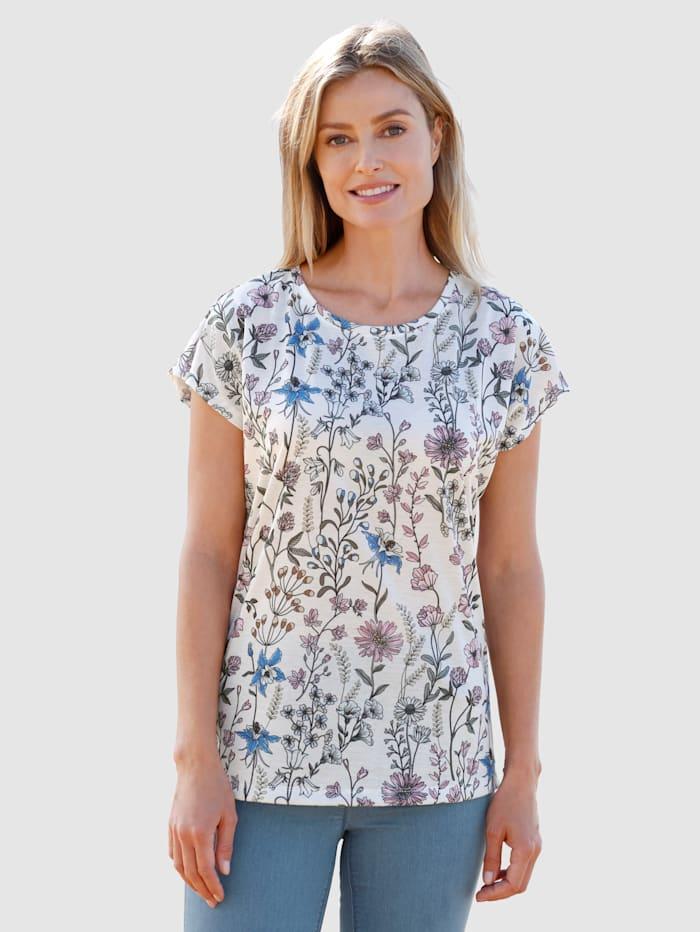 basically you T-shirt à motif floral, Blanc