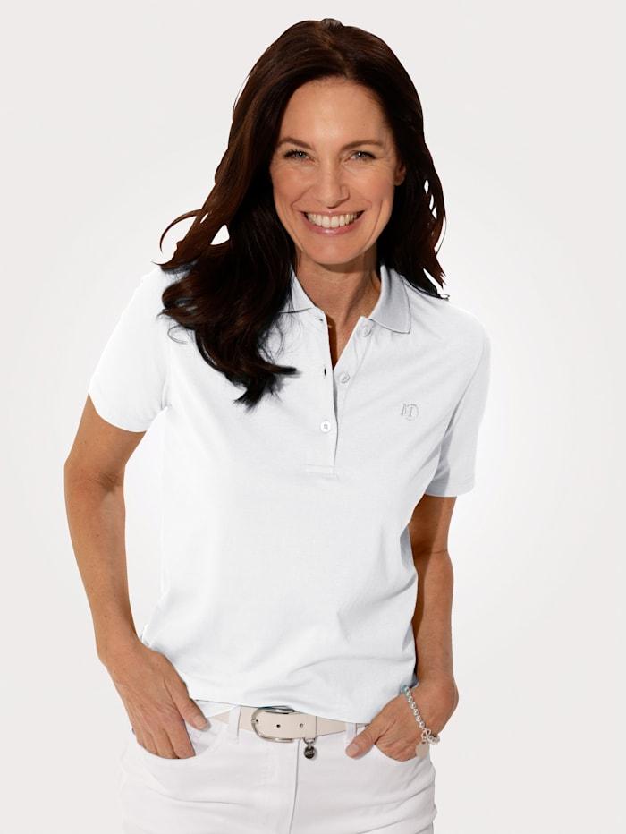 MONA Poloshirt aus Cotton made in Africa, Weiß
