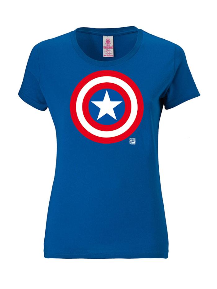 Logoshirt Print T-Shirt Marvel Comics mit lizenzierten Originaldesign, blau