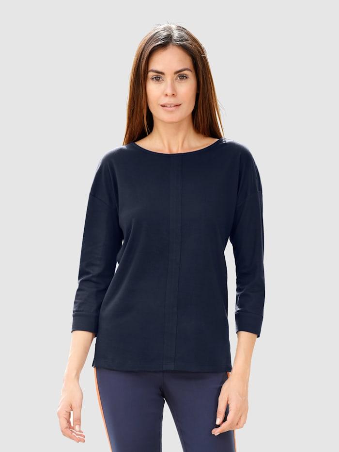Laura Kent Shirt in legerer Form, Marineblau