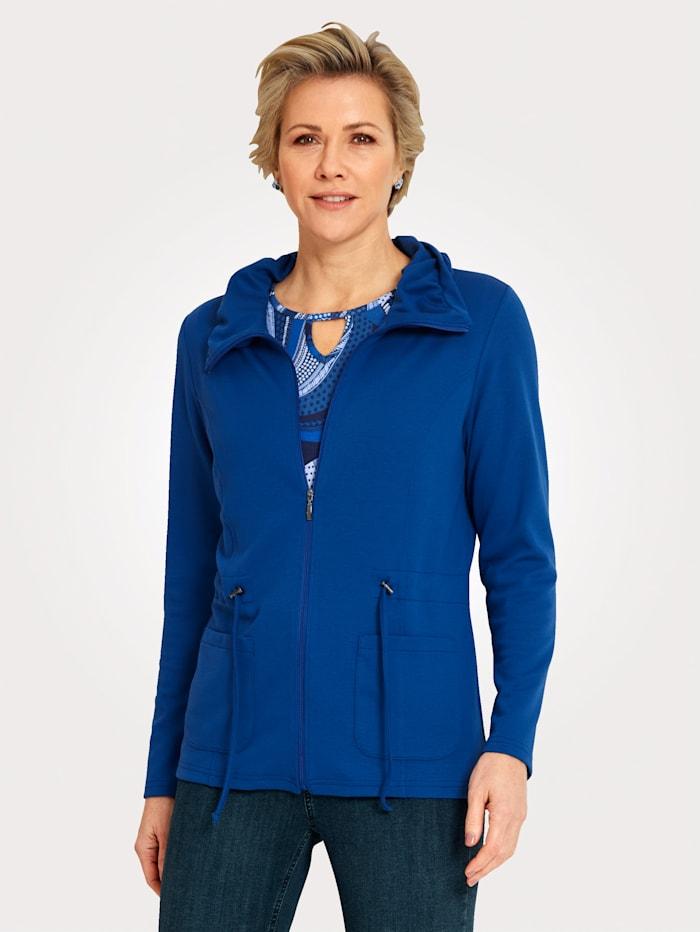 MONA Shirtjacke mit raffiniertem Kragen, Blau