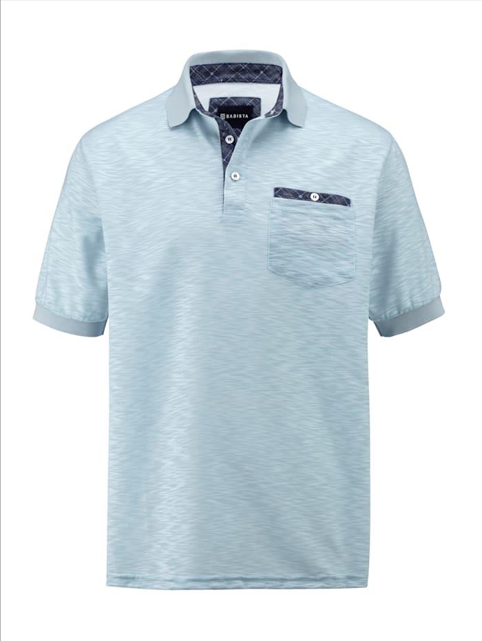 BABISTA Poloshirt in zweifarbiger, unregelmäßiger Struktur, Hellblau