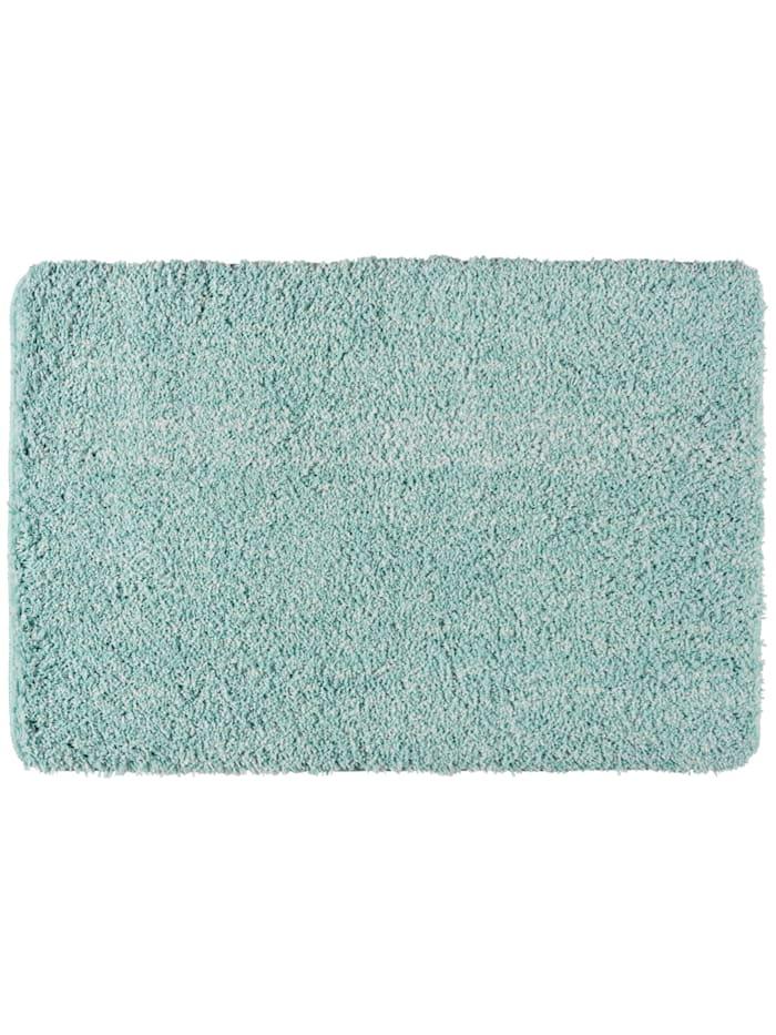 Wenko Badteppich Mélange Turquoise, 60 x 90 cm, Mikrofaser, Polyester/Mikrofaser: Türkis