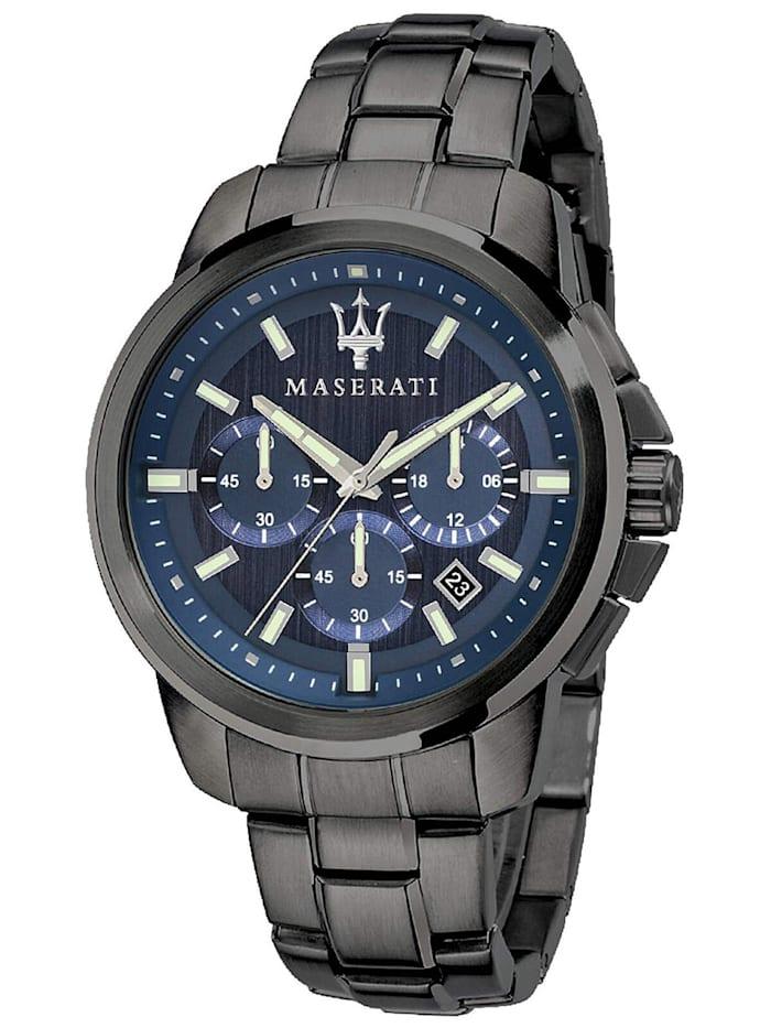 Maserati Herrenuhr Chronograph Successo Grau/Blau, Blau