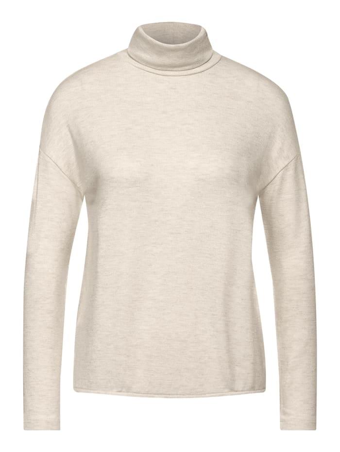 Street One Shirt mit Rollkragen, savannah sand melange