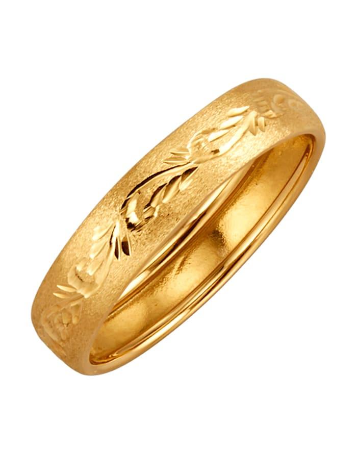 Damenring in Gelbgold 375, Gelb