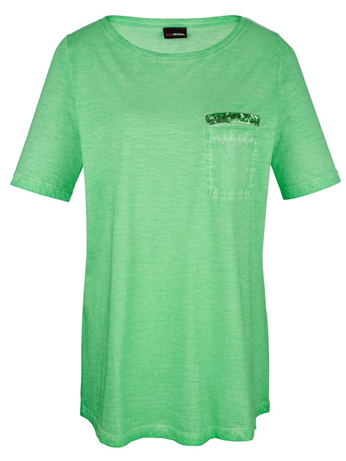 T-shirt à effet oil washed