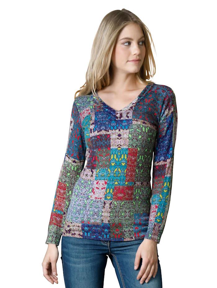 AMY VERMONT Pullover mit grafischem Druck, Multicolor