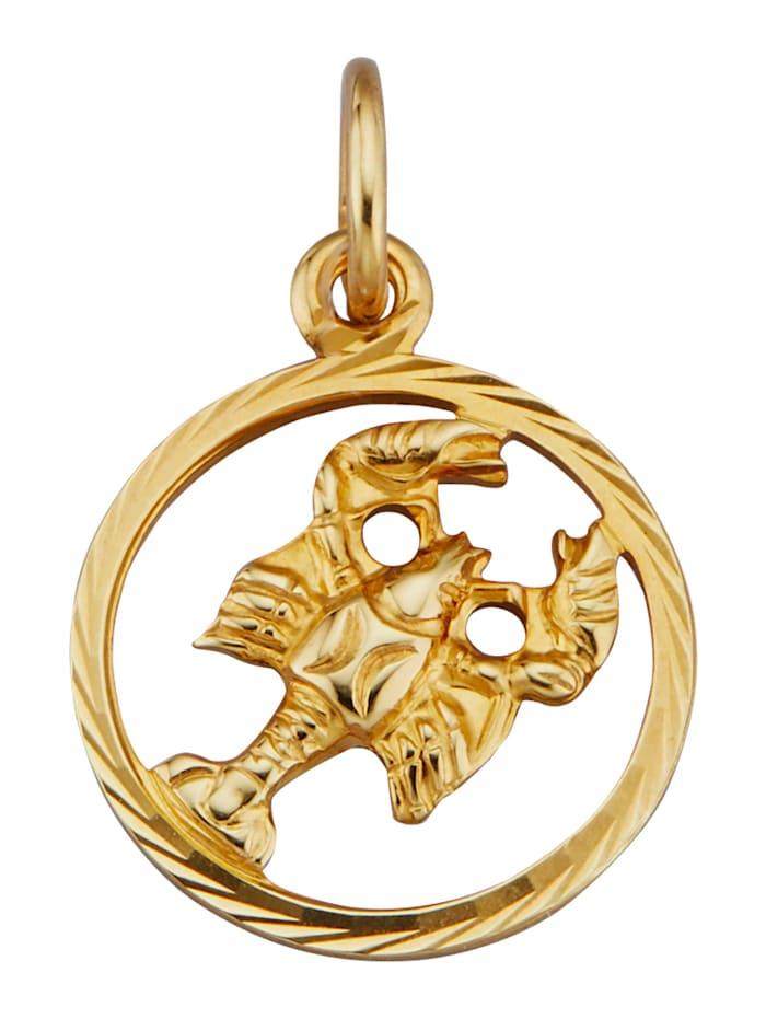 Pendentif Signe du zodiaque Cancer, Jaune