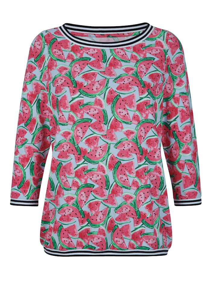 Shirt mit sommerlichem Melonendruck