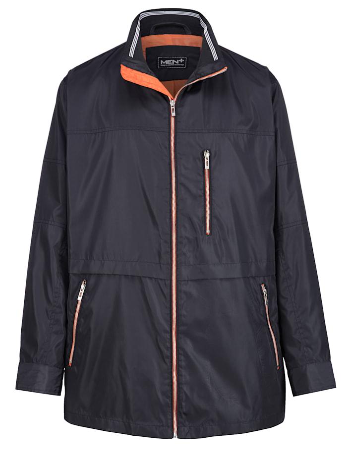 Men Plus Erityisleikattu takki – tilaa vatsalle, laivastonsininen/oranssi