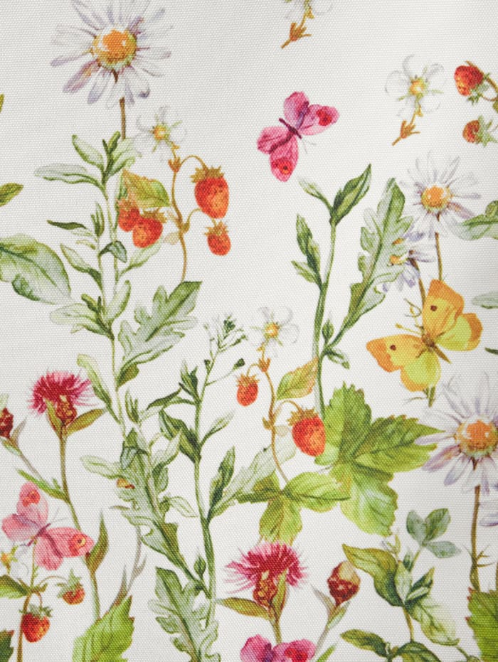 Korte vitrage Weidebloemen & vlinders