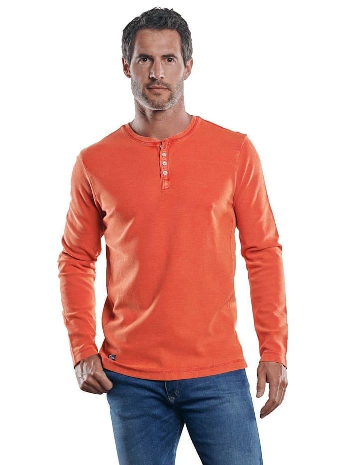 Engbers Strukturiertes Henley Shirt, Reinorange