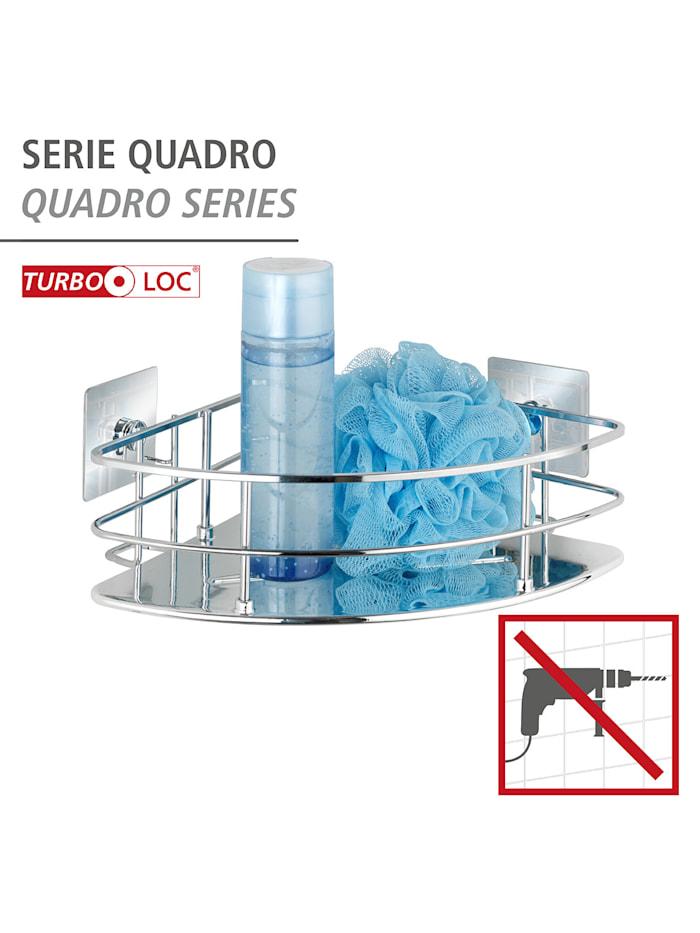 Turbo-Loc® Edelstahl Eckablage Quadro, rostfrei, Befestigen ohne bohren