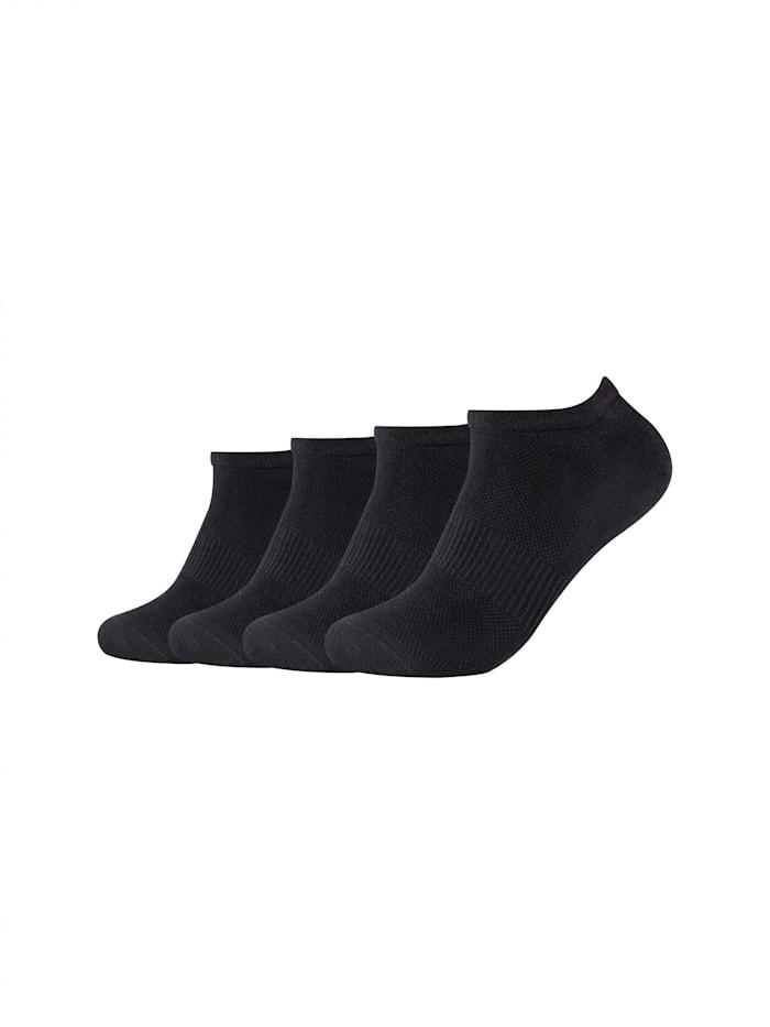 Camano Sneakersocken ca-soft aus Bio-Baumwolle im 4er-Pack, black