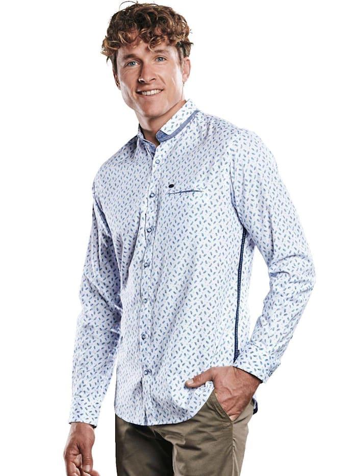 Engbers Elastisches Langarmhemd, Saphirblau