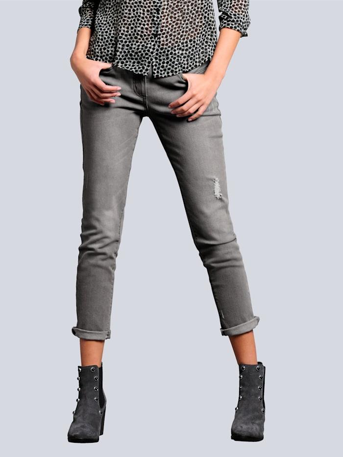 Alba Moda Jeans im Boyfriend-Style, Grau