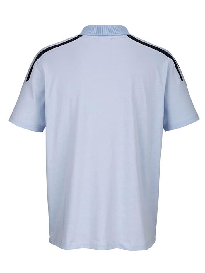 Poloshirt met contrastkleur op de schouders