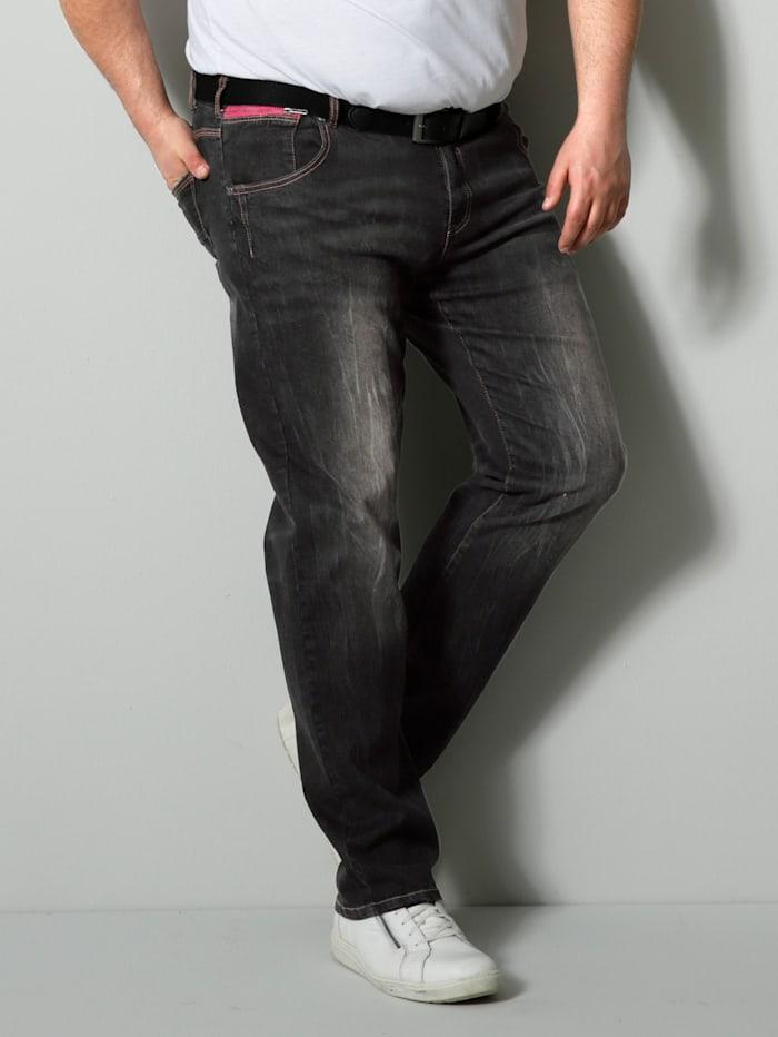 Men Plus Jeans Spezialschnitt, Black stone