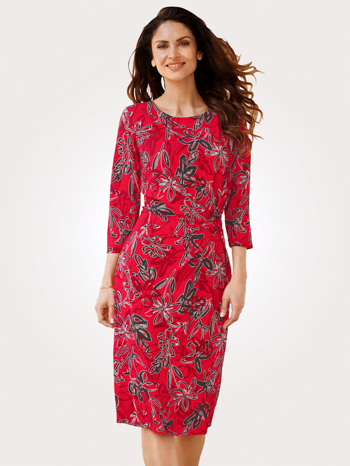 Jerseykleid mit schmeichelnder Raffung