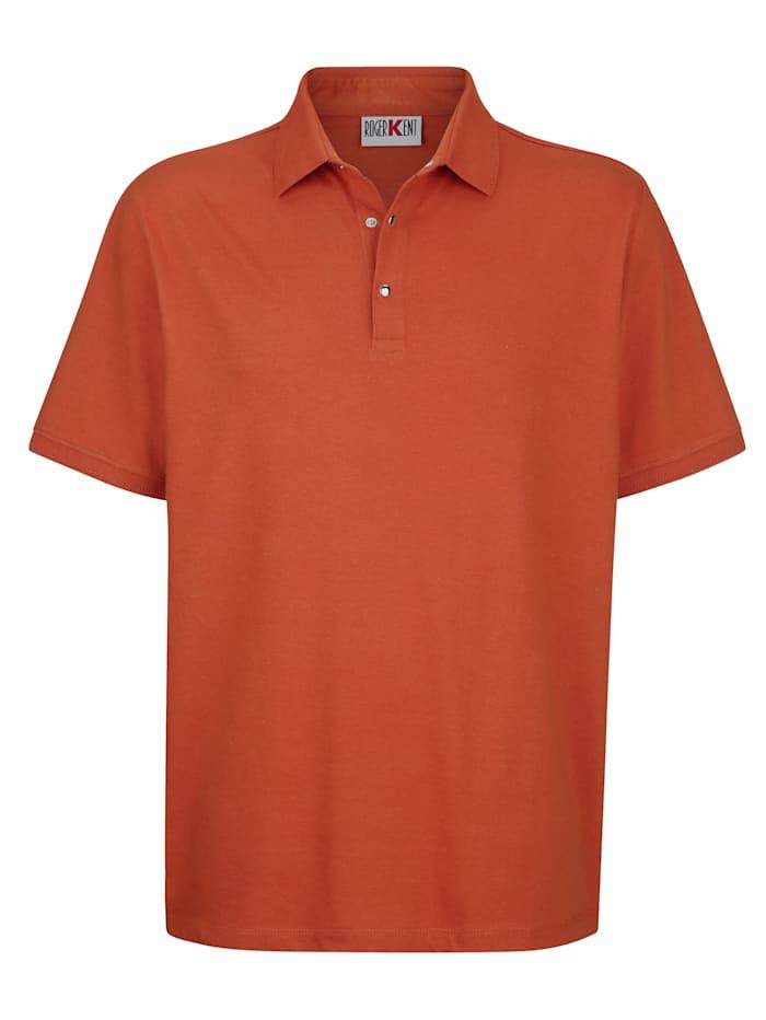 Roger Kent Poloshirt met drukknoopsluiting, Terracotta