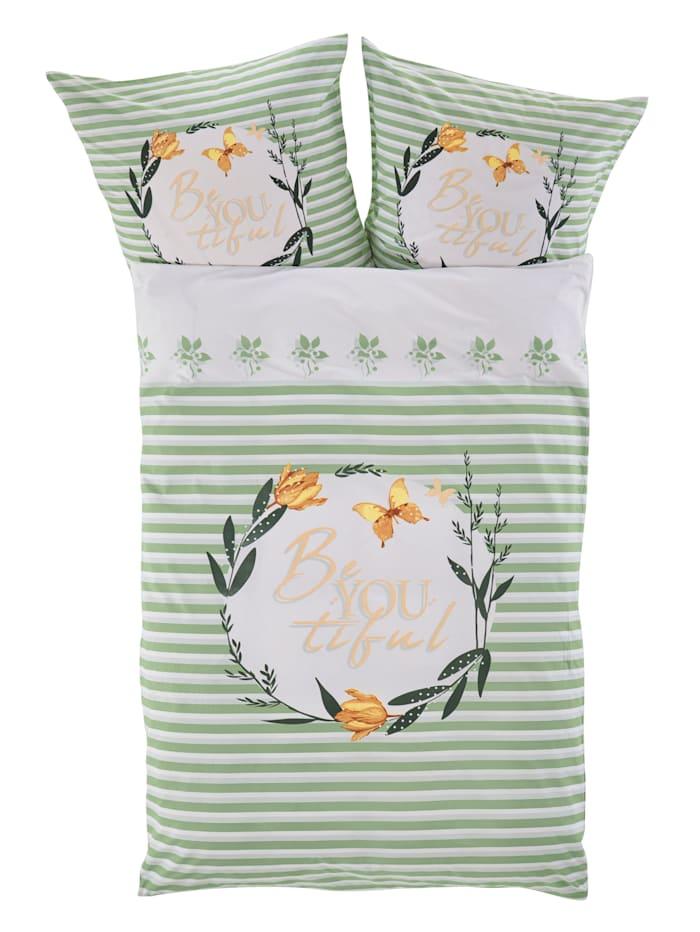 Webschatz Renforce ložní prádlo Beautiful 2-d., Přírodní/Multicolor