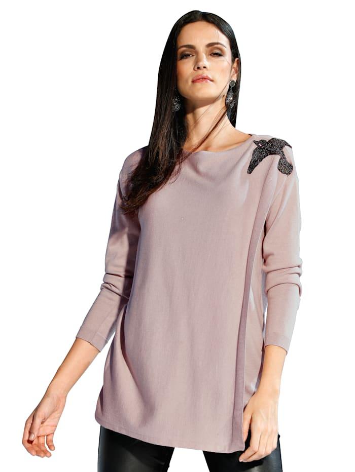 AMY VERMONT Pullover mit dekorativer Applikation, Rosé