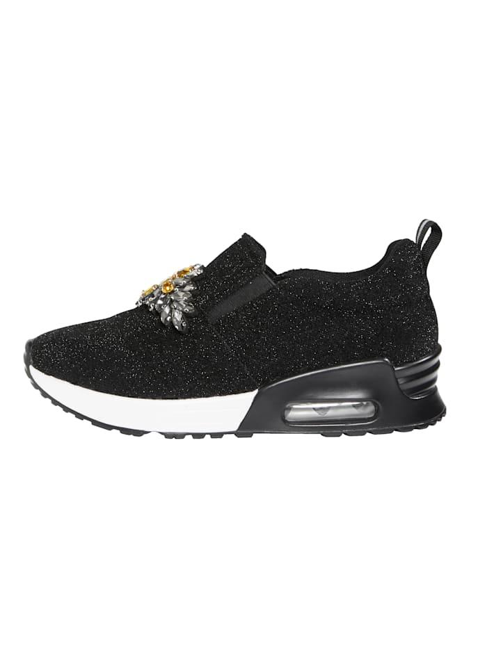 Sneaker in Glitter-Optik