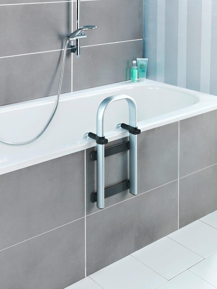 Wenko Badekarstige Secura Premium, sølvfarget