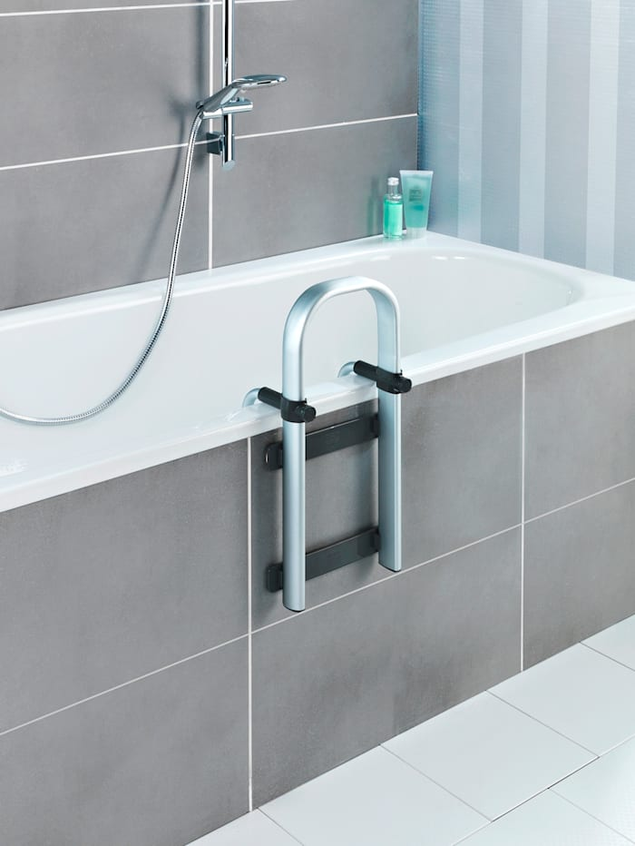 Wenko Rukojeť do vany Secura Premium, Stříbrná