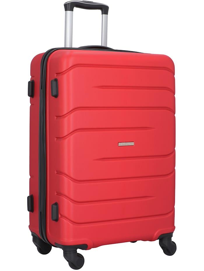 NOWI Milano 5.0 4-Rollen Kofferset 3tlg. 3-teilig, rot