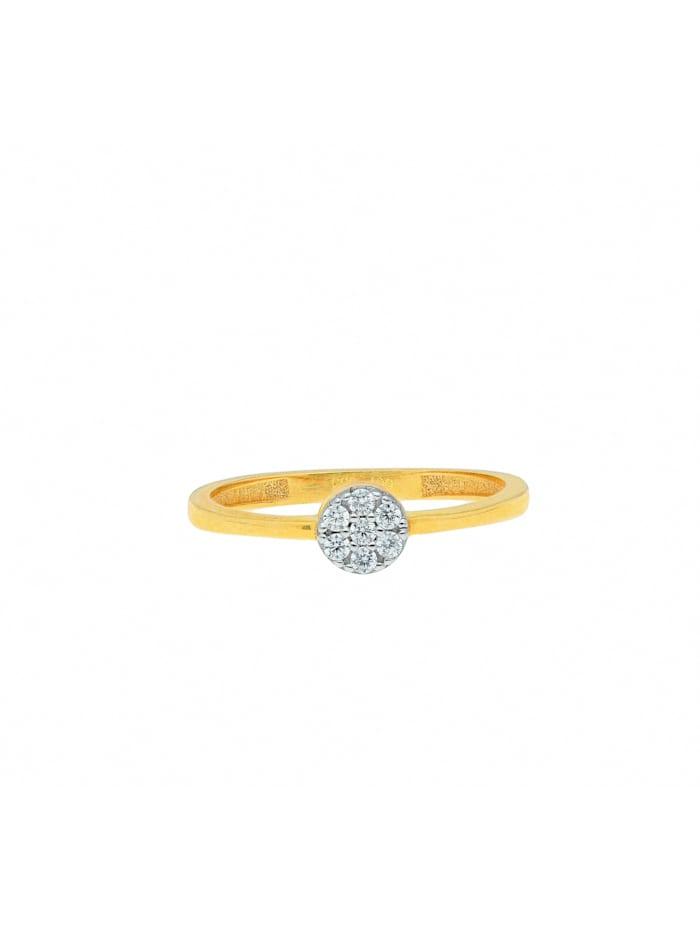 1001 Diamonds Damen Goldschmuck 333 Gold Ring mit Zirkonia Ø 4,8 mm, gold