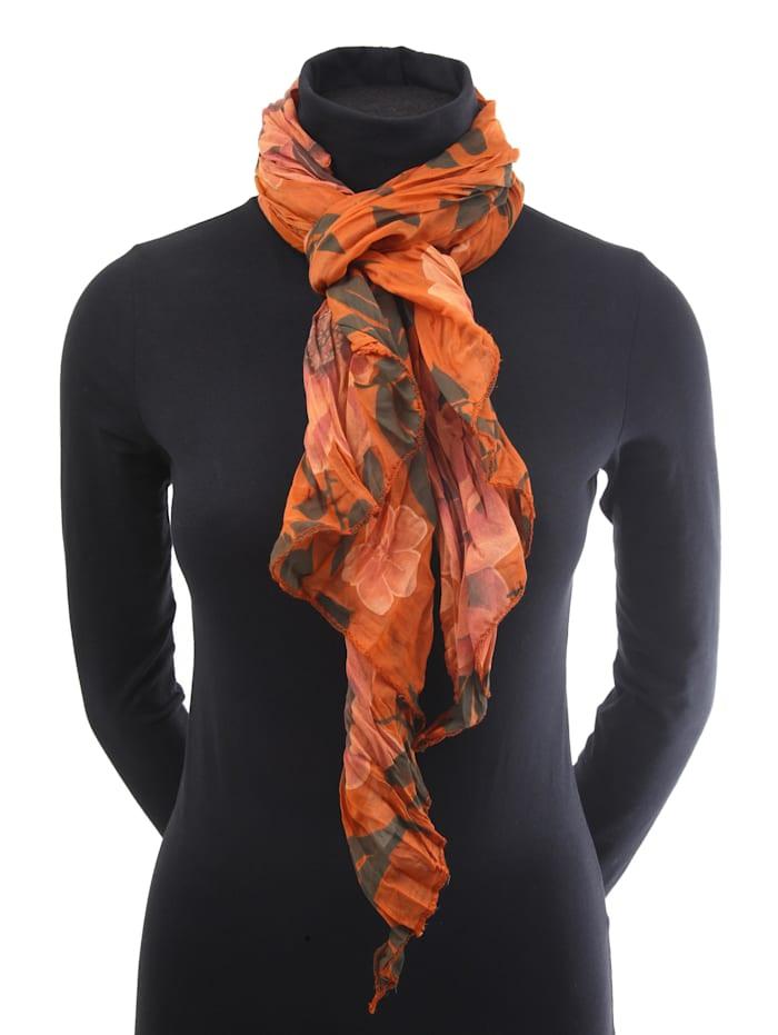 Italienischer Schal Veerle mit floralem Muster