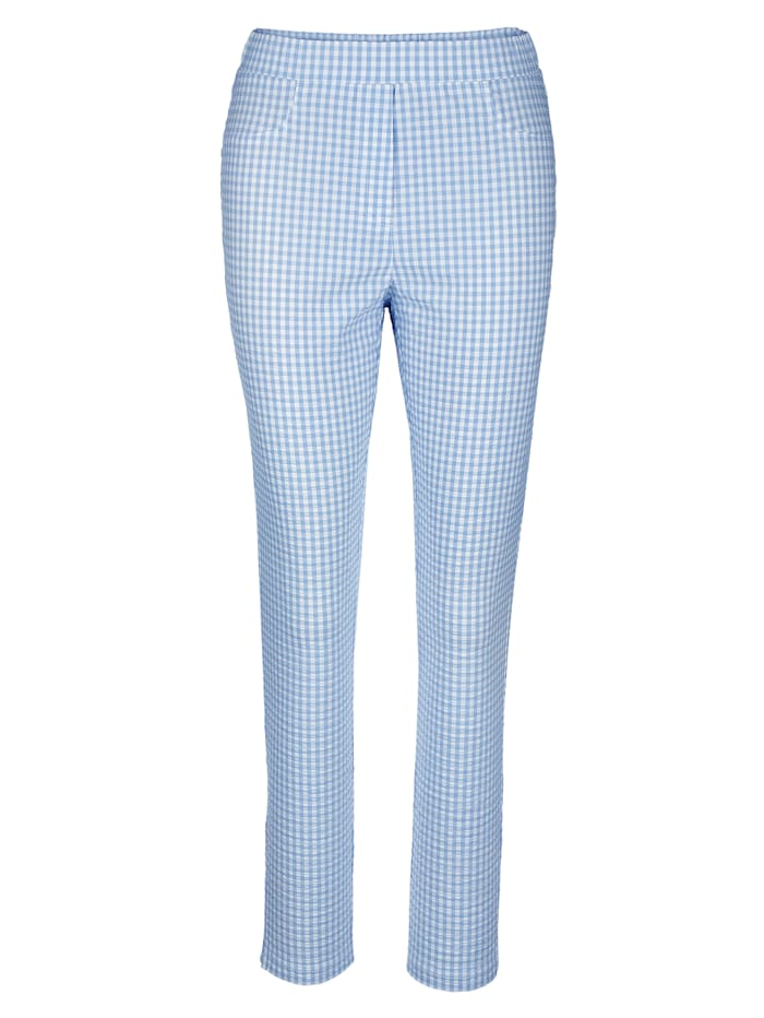 Pull-on trousers in a check pattern