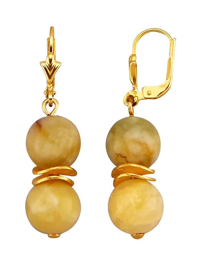 Ohrringe mit Honig-Opalen, Gelb