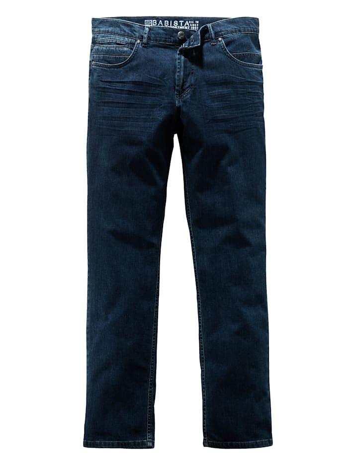 BABISTA Jeans mit modischem Crinkle-Effekt, Blau