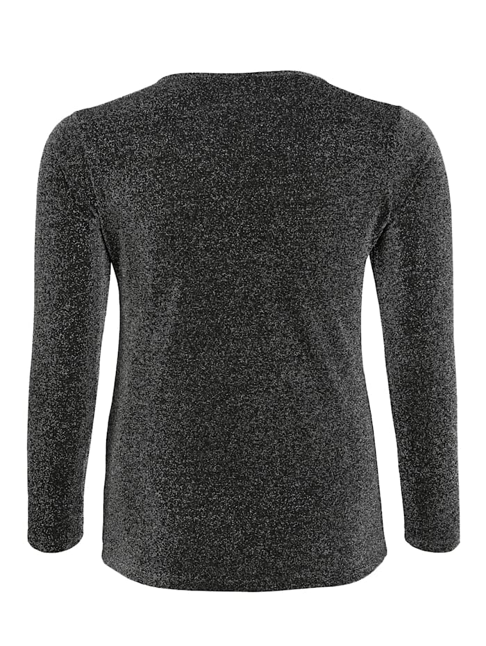 Shirt mit Rundhalsausschnitt Glitzereffekt