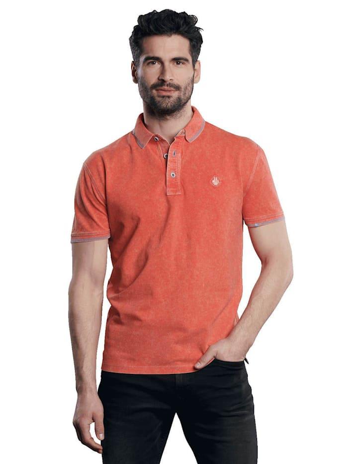Engbers Poloshirt mit Wascheffekt, Tieforange