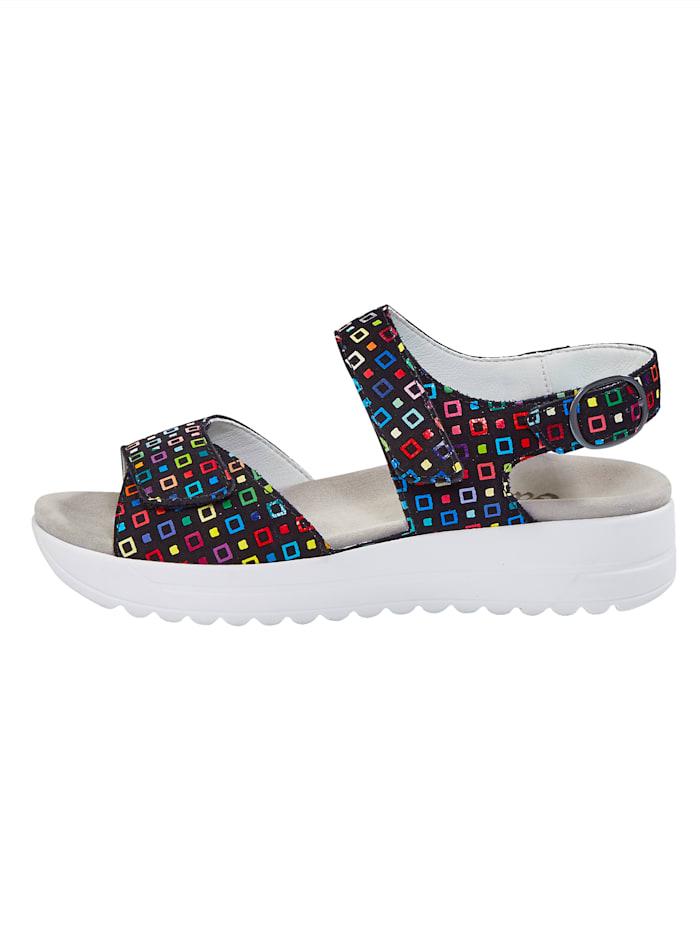 Sandales avec absorbeurs de chocs