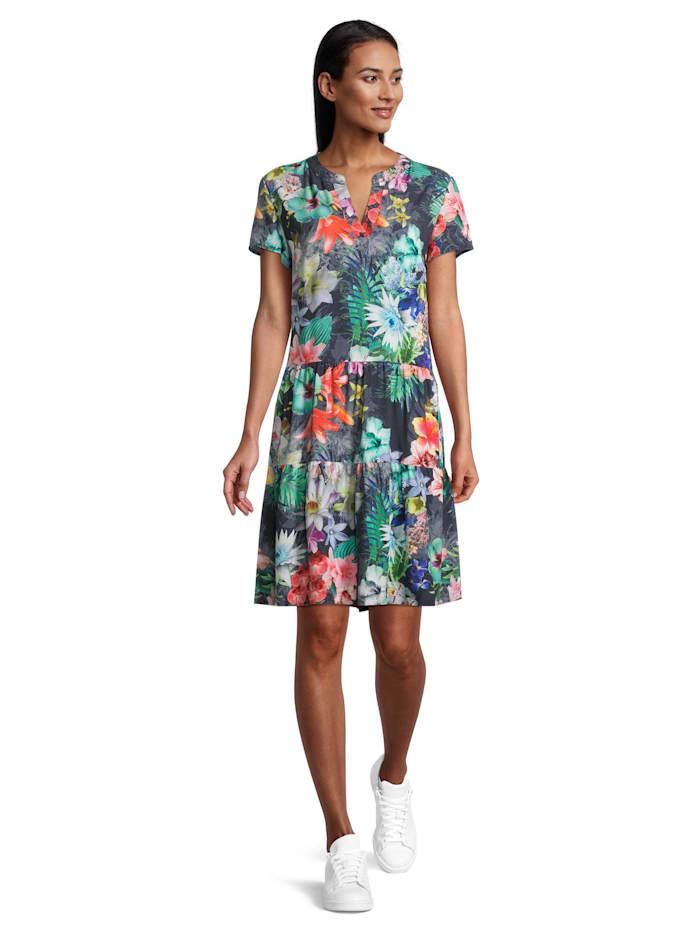 Betty Barclay Sommerkleid mit Stehkragen, Dunkelblau