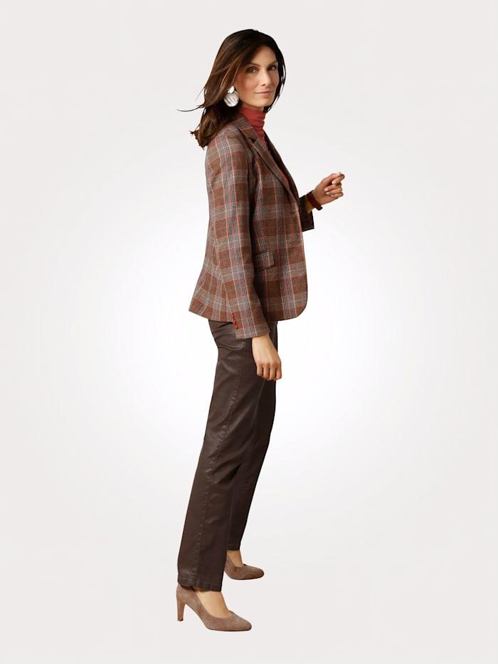 Blazer in a glen check pattern