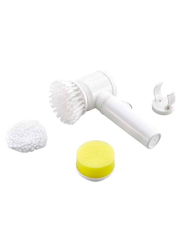 Maximex 3in1 Reinigungsbürste, Weiß/Gelb