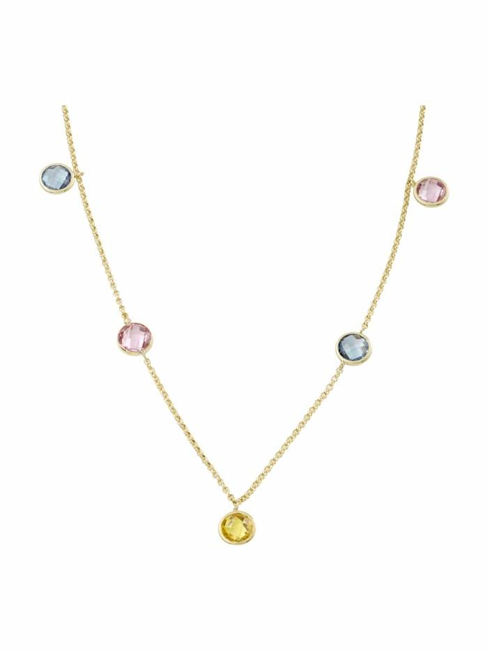 amor Collier für Damen, Gold 375, Zirkonia Fantasie, Gold