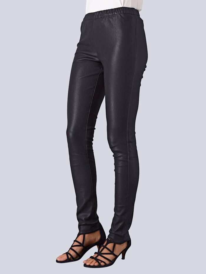 Alba Moda Leren legging van zachte lamsnappa, Zwart