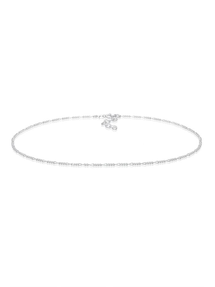 Elli Halskette Choker Figaro Basic Blogger 925 Sterling Silber, Silber