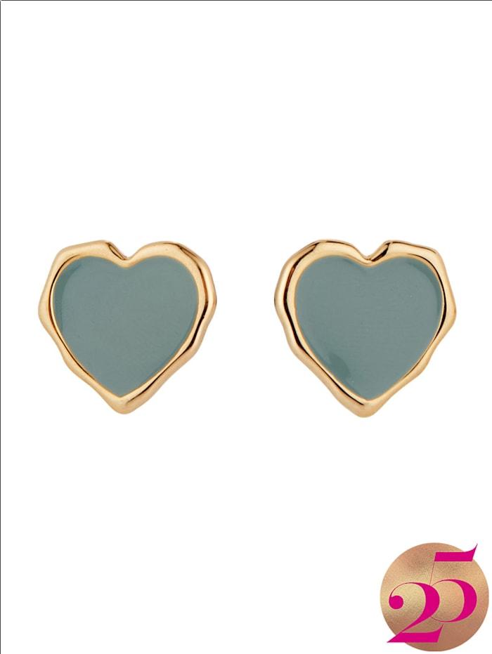 SIENNA Ohrringe in Herzform, Jubiläumskollektion, Blau