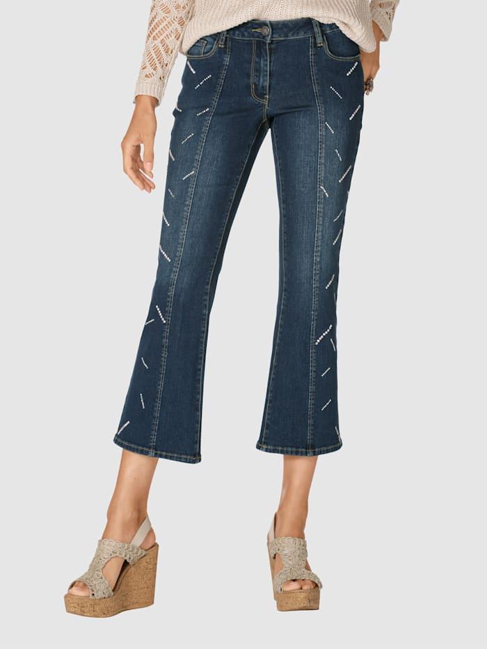 AMY VERMONT Jeans med strass, Blå