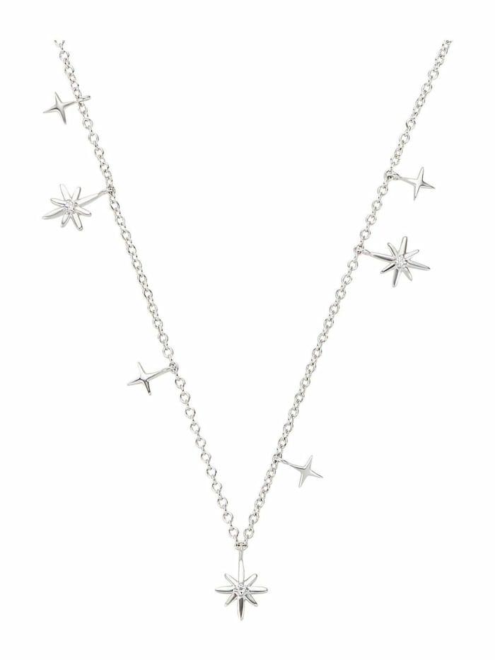 Noelani Kette mit Anhänger für Damen, Sterling Silber 925, Zirkonia Polarstern, Silber