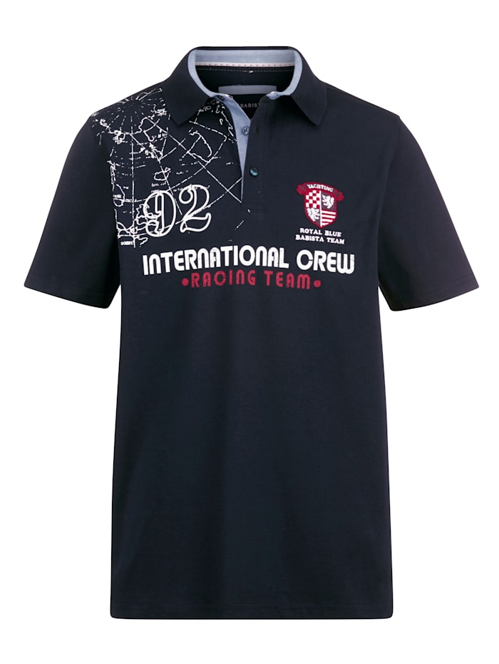 BABISTA Poloshirt met maritieme details, Marine