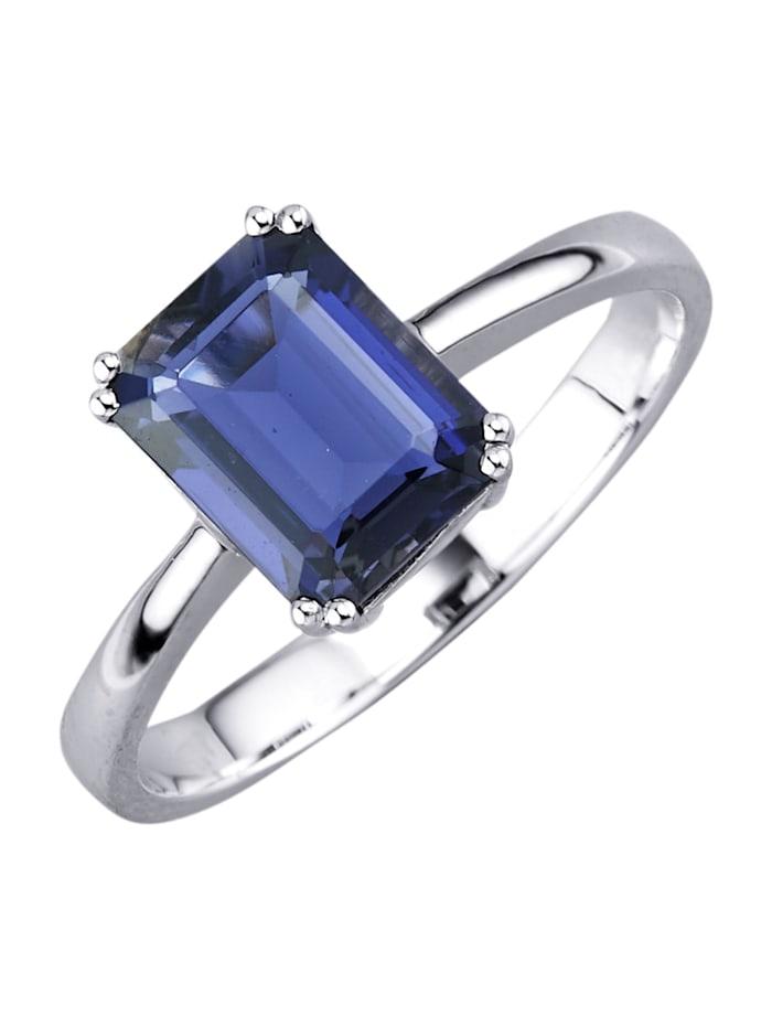 Diemer Platin Ring, Blå